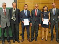 Prof. Dr. Franz Seitz, Prof. Dr. Horst Rottmann, Daniel Seebauer, Franz Josef Benedikt, Lisa Schmidt, Prof. Dr. Gerhard Rösl