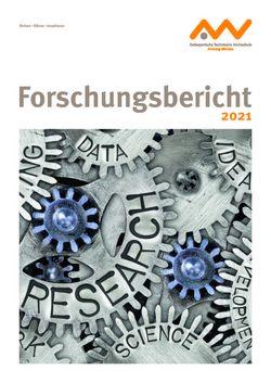 OTH Forschungsbericht 2021 Titelseite